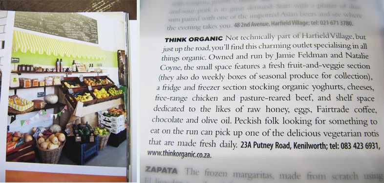 taste magazine think organic article